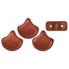 DG-8 Ginkgo бусины 7,5х7,5мм Matte Metallic Dk Copper (K0175) - 50гр