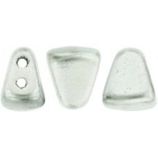 DG-7 NIB-BIT бусины 6х5мм Matte - Metallic Silver (K0170) - 100гр