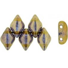 DG-7 GemDuo бусины 8х5мм Bronze - Crystal (B00030) - 50гр