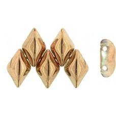 DG-7 GemDuo бусины 8х5мм Apollo - Gold (C00030) - 50гр