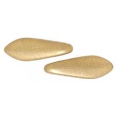 DG-10 Two Hole Daggers бусины 16х5мм Matte - Metallic Flax (K0171JT) - 600шт