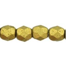 DG-3 Граненые Бусины 4мм Matte - Metallic Aztec Gold (K0172JT) - 1200шт