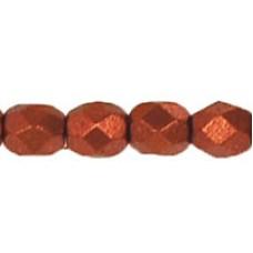 DG-3 Граненые Бусины 4мм Matte - Metallic Dk Copper (K0175) - 1200шт