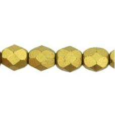 DG-4 Граненые Бусины 6мм Matte - Metallic Aztec Gold (K0172JT) - 600шт