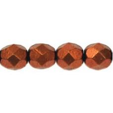 DG-4 Граненые Бусины 6мм Matte - Metallic Dk Copper (K0175) - 600шт