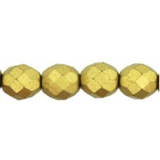DG-5 Граненые Бусины 8мм Matte - Metallic Aztec Gold (K0172JT) - 300шт