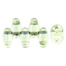 DG-7 MiniDuo бусины 5х2мм Luster - Transparent Lt Green (LS00030) - 50гр