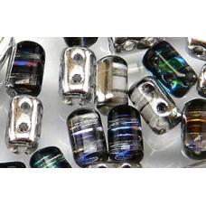 DG-7 Rulla бусины 3х5мм Crystal/Heliotrope (H00030) - 100гр