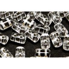 DG-7 Rulla бусины 3х5мм Crystal - Silver-Lined (SL00030) - 100гр