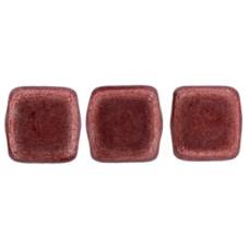 DG-10 Two Hole Tile бусины 6мм Saturated Metallic Grenadine  (04B01)