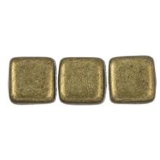 DG-10 Two Hole Tile бусины 6мм Saturated Metallic Emperador  (05A01)