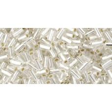 Стеклярус ТОХО 3мм Silver-Lined Crystal (21) - 250гр