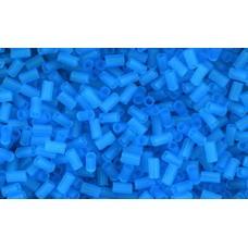 Японский стеклярус TOHO Beads 3мм Transparent-Frosted Dk Aquamarine (3CF)