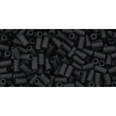 Стеклярус ТОХО 3мм Opaque-Frosted Jet (49F) - 250гр