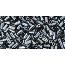 Стеклярус ТОХО 3мм Metallic Hematite (81) - 250гр