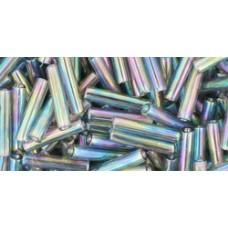 Японский стеклярус TOHO Beads 9мм Transparent-Rainbow Gray (176B)