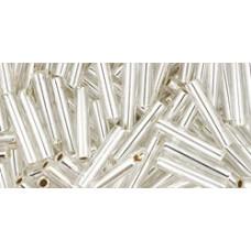 Стеклярус ТОХО 9мм Silver-Lined Crystal (21) - 250гр