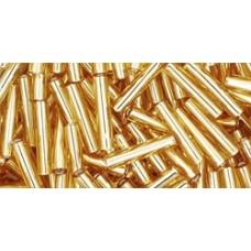 Стеклярус ТОХО 9мм Silver-Lined Med Topaz (22B) - 250гр