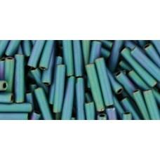 Стеклярус ТОХО 9мм Matte-Color Iris - Teal (706) - 250гр
