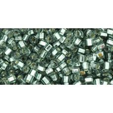 Японский бисер кубик TOHO Beads 1,5мм Silver-Lined Gray (29B)
