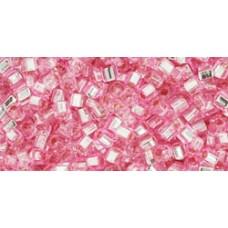 Кубик ТОХО 1,5мм Silver-Lined Pink (38) - 250гр