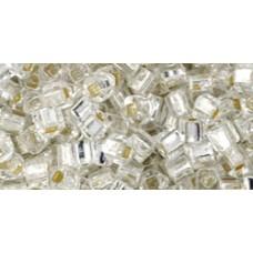 Кубик ТОХО 3мм Silver-Lined Crystal (21) - 250гр