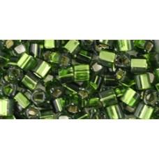 Кубик ТОХО 3мм Silver-Lined Olivine (37) - 250гр