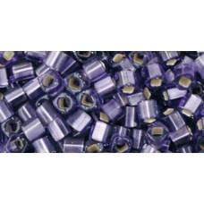 Японский бисер кубик TOHO Beads 3мм Silver-Lined Frosted Lt Tanzanite (39F)