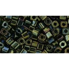 Японский бисер кубик TOHO Beads 3мм Metallic Iris - Green/Brown (84)