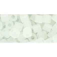 Кубик ТОХО 4мм Transparent-Frosted Crystal (1F) - 250гр