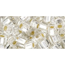Кубик ТОХО 4мм Silver-Lined Crystal (21) - 250гр