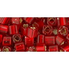 Кубик ТОХО 4мм Silver-Lined Siam Ruby (25B) - 250гр