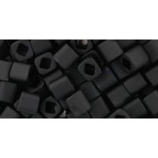 Кубик ТОХО 4мм Opaque-Frosted Jet (49F) - 250гр