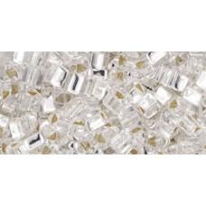 Треугольный ТОХО 8/0 Silver-Lined Crystal (21) - 250гр