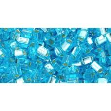 Треугольный ТОХО 8/0 Silver-Lined Aquamarine (23) - 250гр