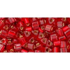 Треугольный ТОХО 8/0 Silver-Lined Ruby (25C) - 250гр