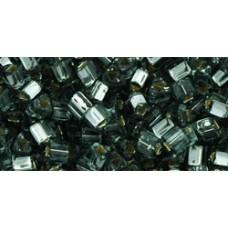 Треугольный ТОХО 8/0 Silver-Lined Gray (29B) - 250гр