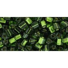Треугольный ТОХО 8/0 Silver-Lined Olivine (37) - 250гр