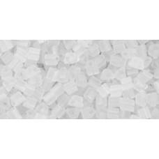 Японский треугольный бисер TOHO Beads 11/0 Transparent-Frosted Crystal (1F)