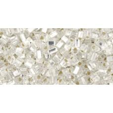 Треугольный ТОХО 11/0 Silver-Lined Crystal (21) - 250гр