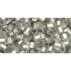Японская рубка TOHO Beads 8/0 Silver-Lined Frosted Crystal (21F)