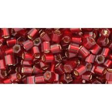Рубка ТОХО 8/0 Silver-Lined Ruby (25C) - 250гр