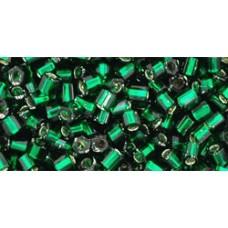 Рубка ТОХО 8/0 Silver-Lined Green Emerald (36) - 250гр