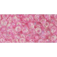 Магатама ТОХО 3мм Transparent-Rainbow Ballerina Pink (171D) - 250гр