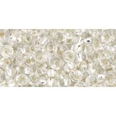 Магатама ТОХО 3мм Silver-Lined Crystal (21) - 250гр
