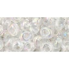 Бисер Магатама ТОХО 5мм Transparent-Rainbow Crystal (161) - 250гр