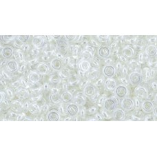 Деми раунд ТОХО 8/0 Transparent-Lustered Crystal (101) - 100гр