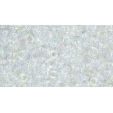 Деми раунд ТОХО 8/0 Transparent-Rainbow Crystal (161) - 100гр
