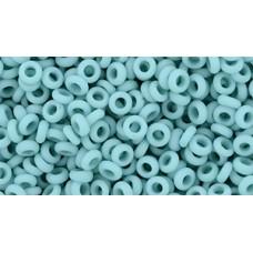Бисер Деми Раунд ТОХО 8/0 Opaque-Frosted Turquoise (55F) - 100гр