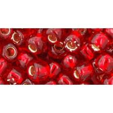 Круглый бисер ТОХО 3/0 Silver-Lined Siam Ruby (25B) - 250гр